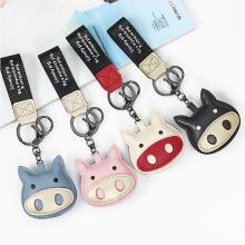Factory Custom Fashion Cartoon Printing Girls Bag Decoration PU Leather Ita Bag Keychain