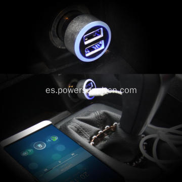 Mini 5v 2.4A Dual Port USB Car Charger