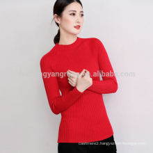 2017 autumn new fashion semi-high round neck sweater