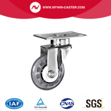 Platte Swivel PU Medical Caster