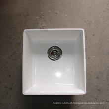 Pias de cozinha acrílica resistente à alta temperatura elegante undermount