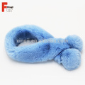 Real Ladies Rex Rabbit Fur Ball Scarf