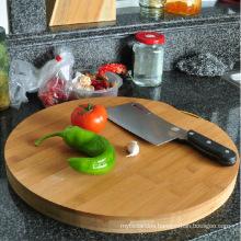 Round Bamboo Cutting Board Butcher Chopping Board
