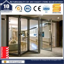 Feelingtop Puerta plegable de aluminio de lujo para la construcción