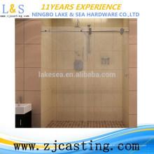 herrajes de vidrio para puertas correderas para baño / abrazadera de puerta de acero inoxidable