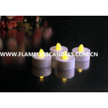 White Body flameless LED Tealight Candles , Plastic LED Can