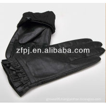 Women fashion Goat skin elegent leather Gloves with special design