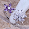 2018 Top factory wholesale austria certificate women flower ring