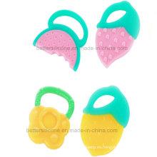 BPA libre bebé bebé dientes de silicona juguete
