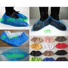 Einweg-Vlies PP / PE / CPE medizinische Schuh Abdeckung fertig gemacht Kxt-Sc21