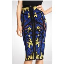 Hotsale que imprime la falda delgada de las mujeres en venta al por mayor