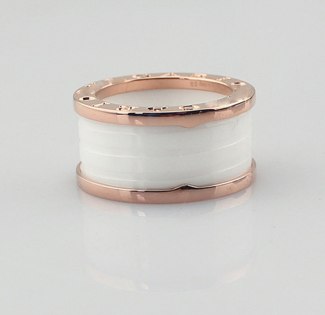 Fashion White Ceramics Spring Rings For Women