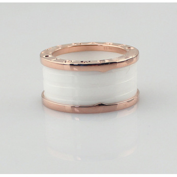 Fashion White Ceramics Spring Rings voor dames