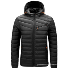 Winter light and large size men's casual solid color padded jacket