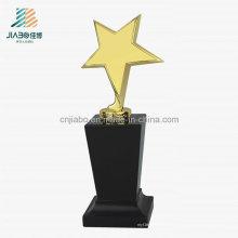 Alliage promotionnel de cadeau moulant le trophée en métal d'étoile d'électrodéposition