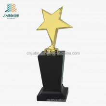 Promotional Gift Alloy Casting Gold Plating Metal Star Trophy