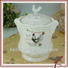 Смешной дизайн Оптовая фарфоровая керамическая посуда для хранения крема