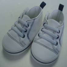 White Baby Sports Shoes For Boys