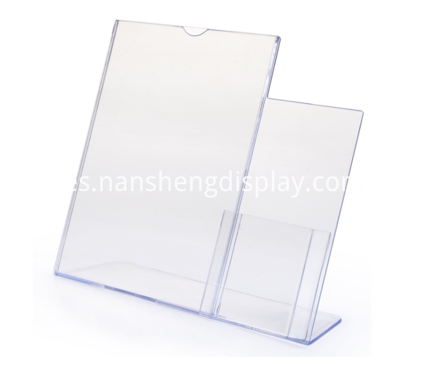 Wide Brochure Sign Holder