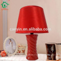 Lampe de bureau en céramique en céramique en porcelaine avec teinte de tissu