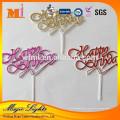 Fontes de decoração de bolo de festa de aniversário de crianças de plástico