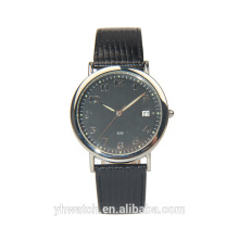 Minimalistic Design Unisex Genuine Leather Strap Simple Watches With Your Logo