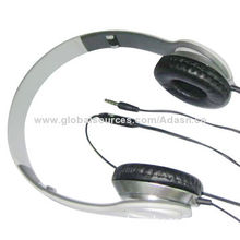 Fashion design wired headset, adjustable for PC, mobile and MP3/MP4 player, from headset factory
