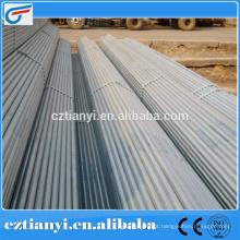 ASTM A252 tubo de aço galvanizado corrugado