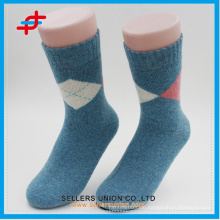 Angora wool new style with knitting casual warm tube socks