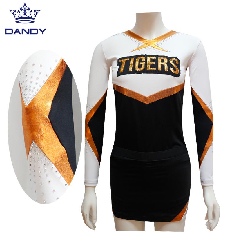 Long sleeve cheerleaders uniforms