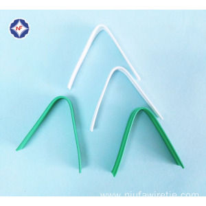 White Plastic Double Core Nose Clip For Masks