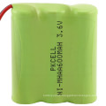 High quality Ni-Mh AA Rechargeable Battery Pack 4.8V 1800mAh