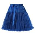 Belle Poque de lujo de 3 capas suave red de tul azul crinolina enaguas enaguas para retro vintage vestidos BP000226-4