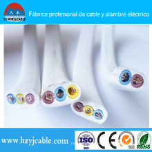 Shanghai Port 300 / 500V Cable de 3 hilos eléctricos de cable plano