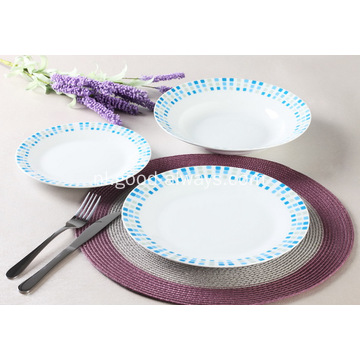 18 delige Decal porselein diner Set met stippen sticker