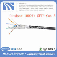 1000FT al aire libre Cat5 cable FTP de la red