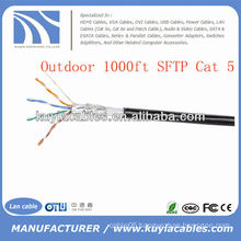 1000FT Outdoor Cat5 Network FTP Cable