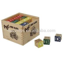 Bloc d'alphabet en bois pour enfants