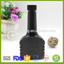 2016 nuevos productos botella plástica de aceite de motor vacío negro de alta calidad de 300ml con tapa roscada