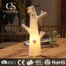 Lámpara de mesa de cerámica blanca de la forma del árbol del arte para el hogar