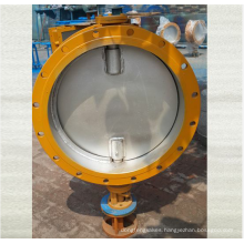 worm gear turbine drive wafer type butterfly valve