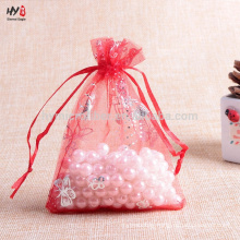 Good quality printed organza jewelry bag