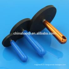 Chine fournisseur N35 aimant en néodyme revêtu de caoutchouc pour voiture