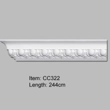 Moldura de cornisa de PU para decoración del hogar