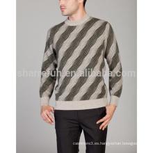 Jersey de cachemira de cuello redondo de calidad de venta de fábrica india