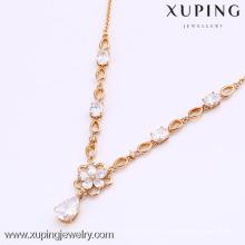 2016 Alibaba fine bijoux gros collier de cristal simple chaîne en or