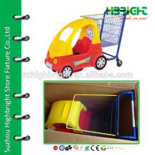 Carrinho de carrinho de compras de fornecedores chineses com assentos para crianças