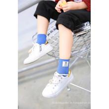 Cute Little Girl algodão meias Kid meias com logotipo animal rotulado