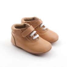 Brown Buckle Äkta Läder Baby Casual Shoes