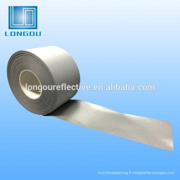 Tissu ou ruban réfléchissant 100% polyester argent